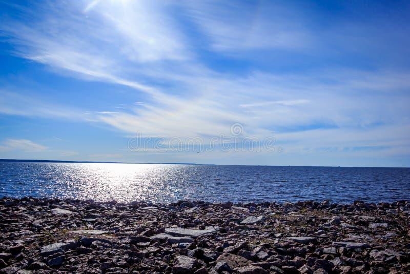 Gulf of Finland в свете вечера стоковая фотография