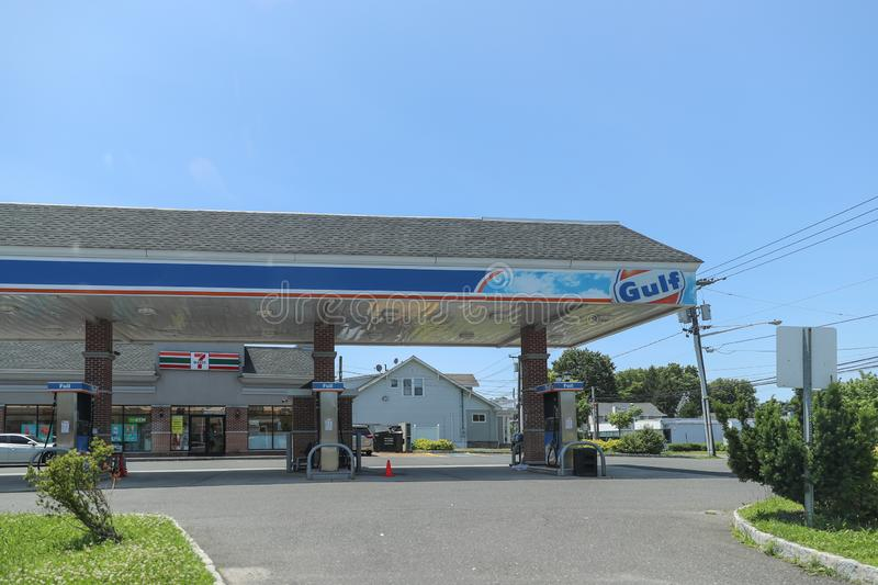 gulf gas station. Gulf Oil LP is an American oil company royalty free stock photos