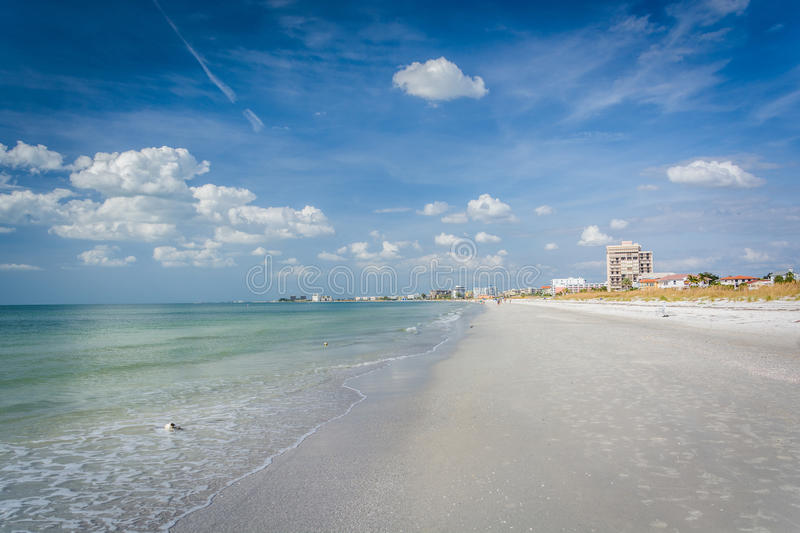 The Gulf of Mexico and beach at St. Pete Beach, Florida. stock photography