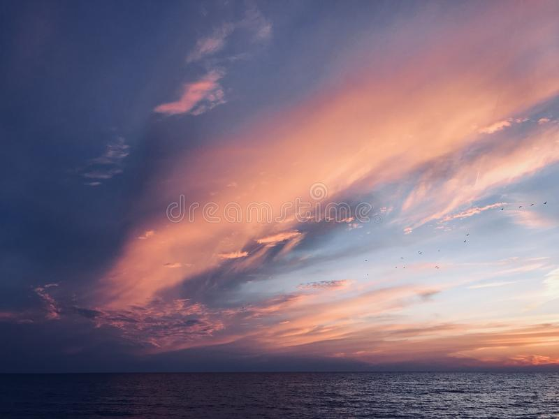 Gulf of Mexico sunset royalty free stock photos