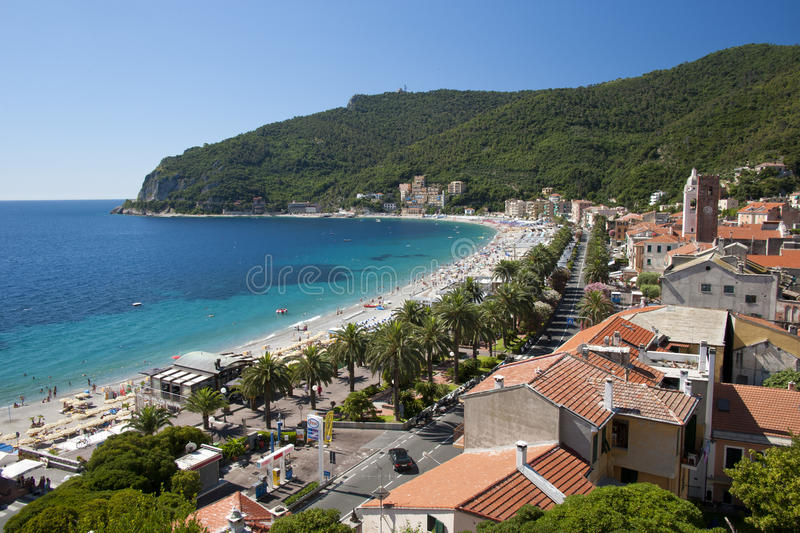 Download The Gulf of Noli stock image. Image of beach, promontory - 32125399