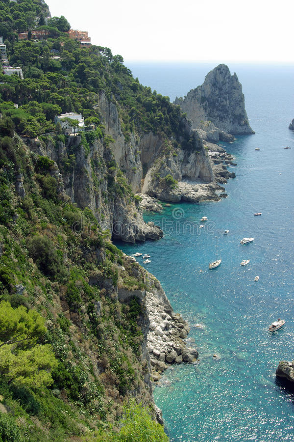Gulf Of Salerno - Capri Island, Italy Royalty Free Stock Photography