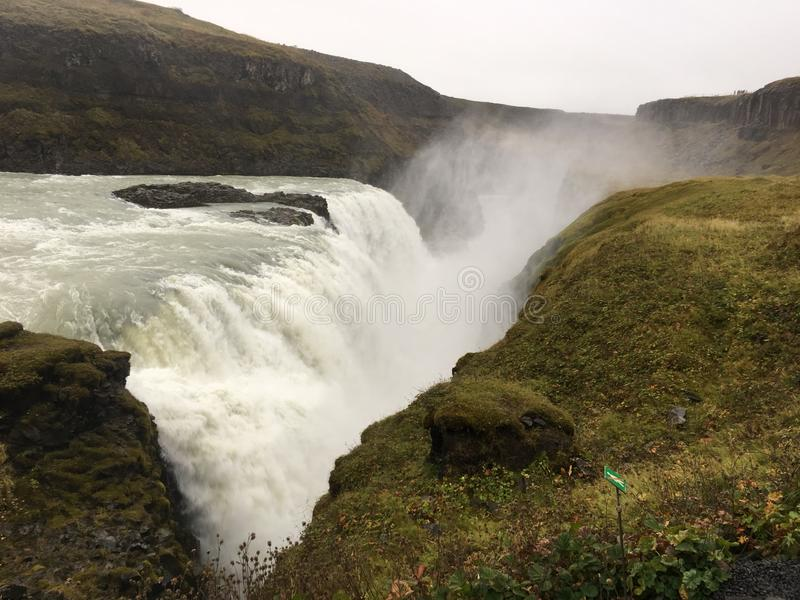 Gulfoss冰岛瀑布 免版税库存图片