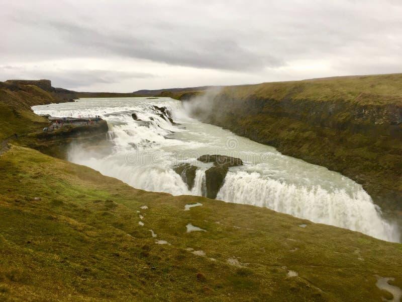 Gulfoss冰岛 免版税库存图片
