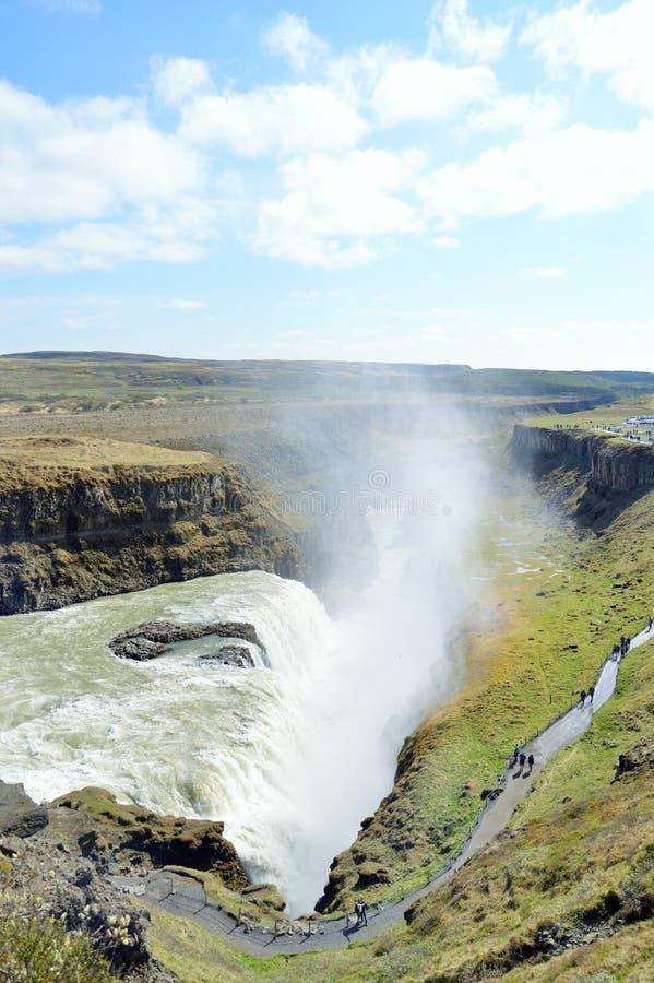 Gulfoss vattenfall arkivfoton
