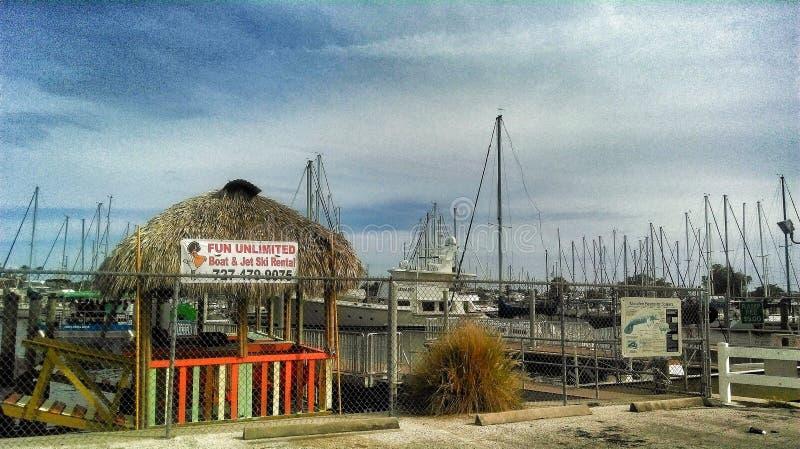 Gulfport marina fotografering för bildbyråer