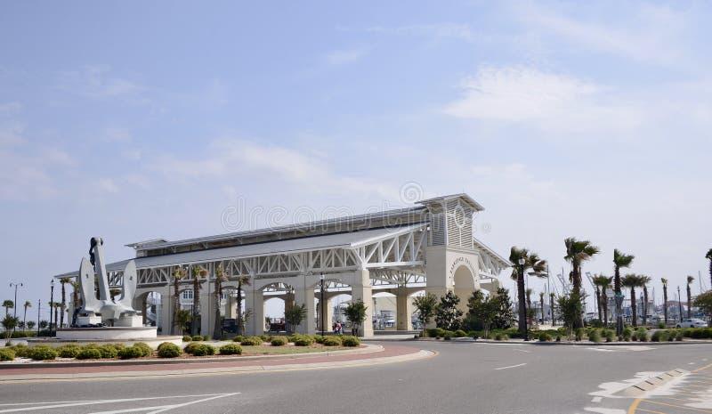 Gulfport Mississippi Oceanfrontpaviljong royaltyfria foton