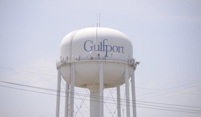 Gulfport Mississippi vattentorn arkivbilder