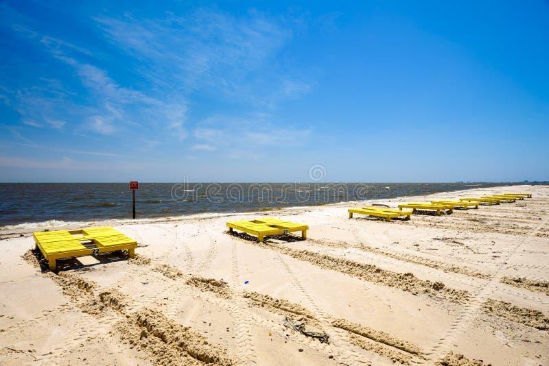 Gulfportstrand stock afbeelding