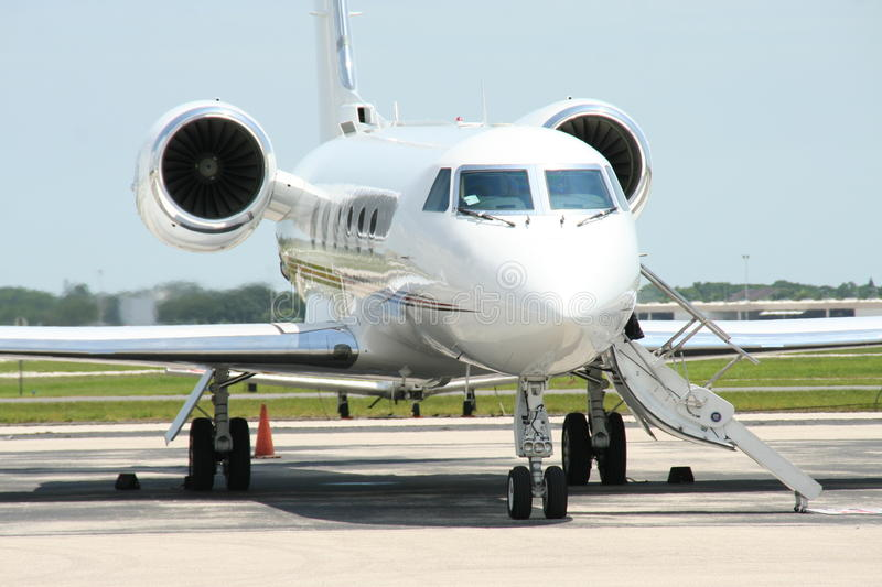 Gulfstream IV private jet stock photos