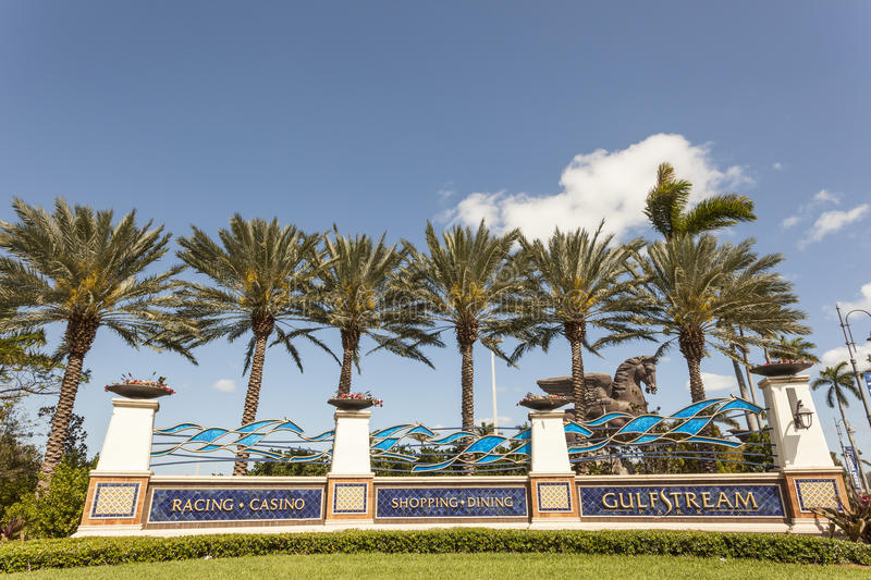 Gulfstreampark in Hallandale-Strand, Florida stock foto