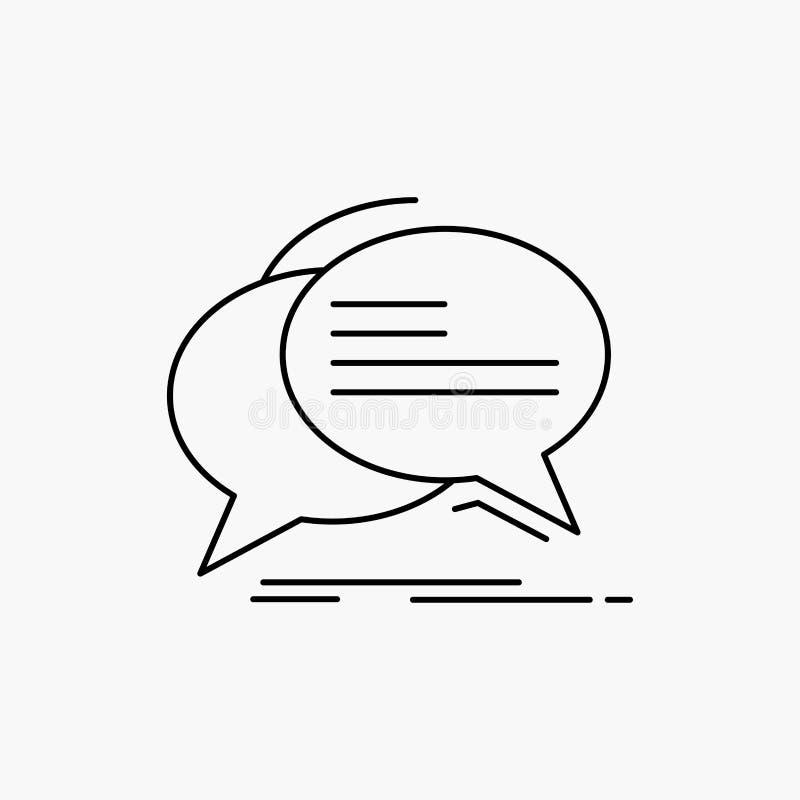 Gulgocze, gaw?dzi, komunikacja, mowa, rozmowy Kreskowa ikona Wektor odosobniona ilustracja ilustracji