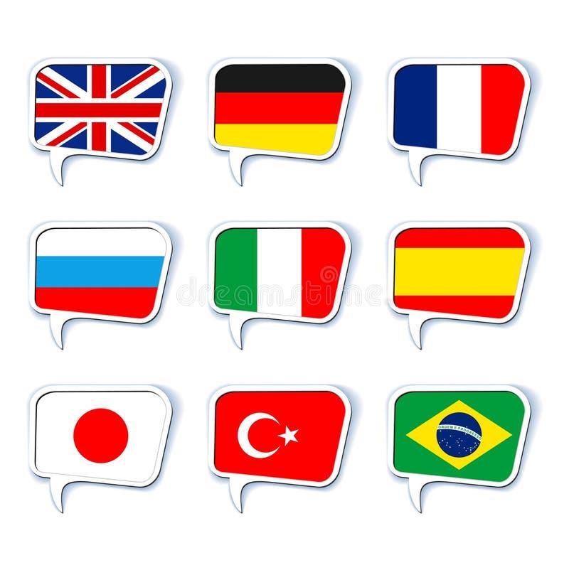 gulgocze więcej mój portfolio setów mowę języki royalty ilustracja