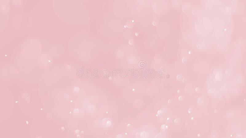 Gulgocze wodnego bokeh abstrakcjonistycznego tło z miękkim czerwonym kolorem obrazy stock