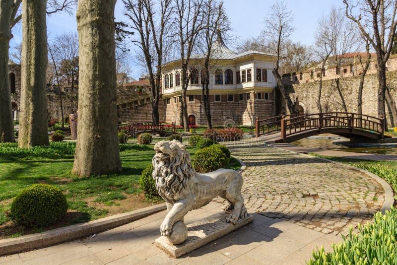 Gulhane-Park Topkapi-Palast Istanbul stockfotos