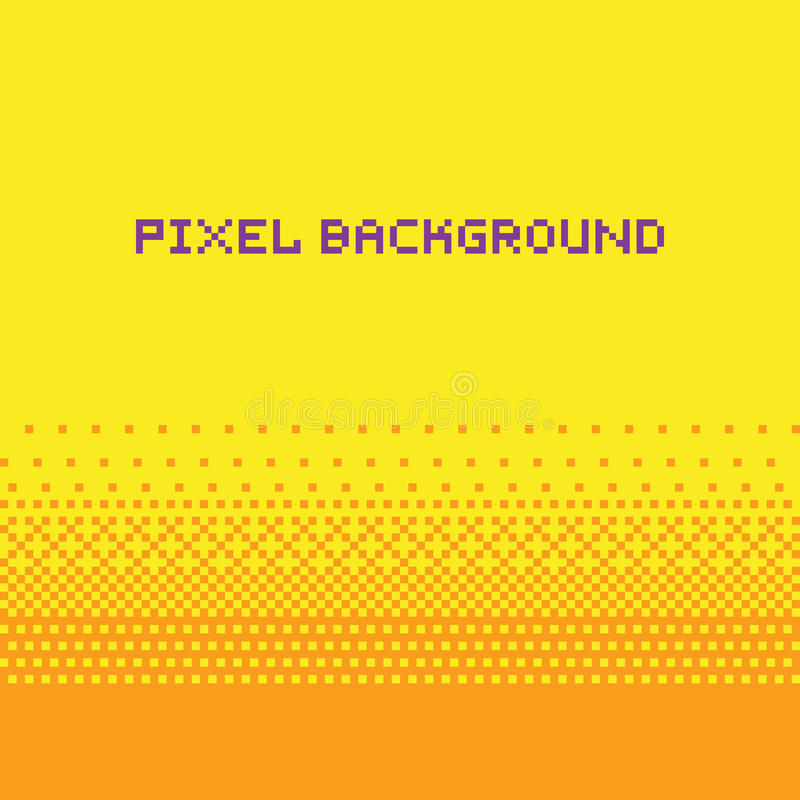 Guling för bakgrund för lutning för vektor för PIXELkonststil royaltyfri illustrationer