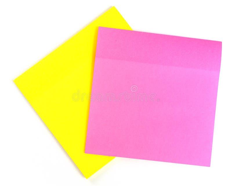 Guling- och rosa färgark som ska antecknas fotografering för bildbyråer