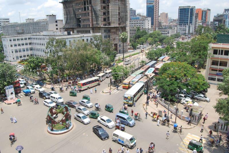 Gulistan est très une rue passante de ville de Dacca photographie stock libre de droits