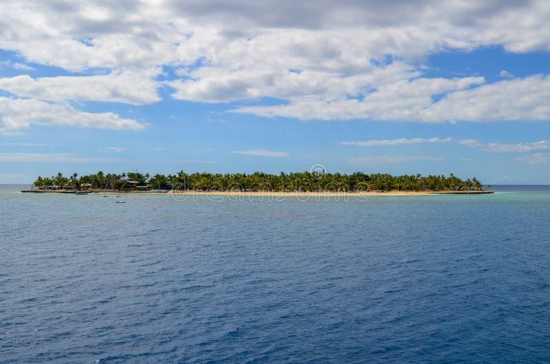 Gulle gifteiland, Mamanucas, Fiji stock afbeeldingen