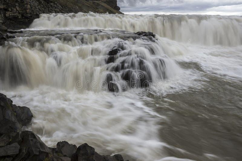 Gullfoss понижается Исландия стоковое изображение