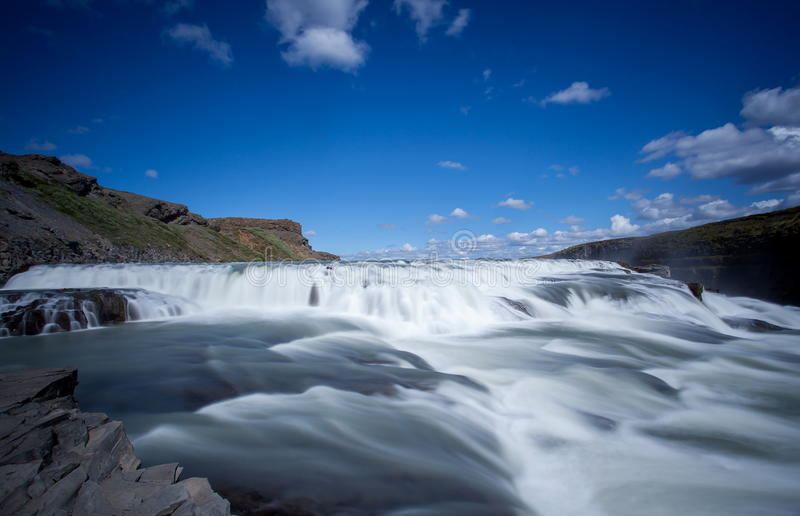 Gullfoss, automnes d'or photos libres de droits