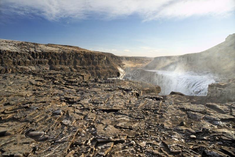 Gullfoss, Iceland royalty free stock image