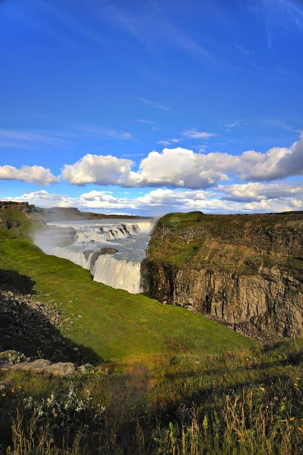 Gullfoss (les automnes d'or), Islande photos stock