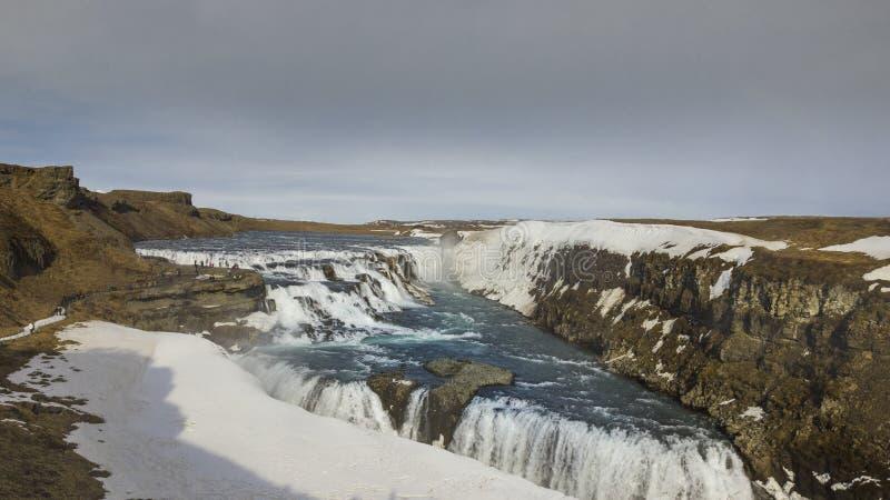 Gullfoss na Iceland obraz royalty free