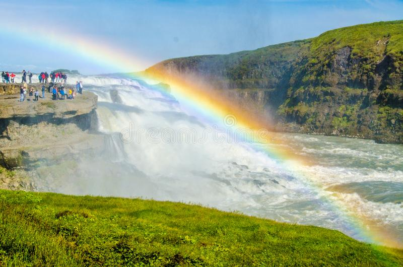 Gullfoss - siklawa Iceland zdjęcie stock