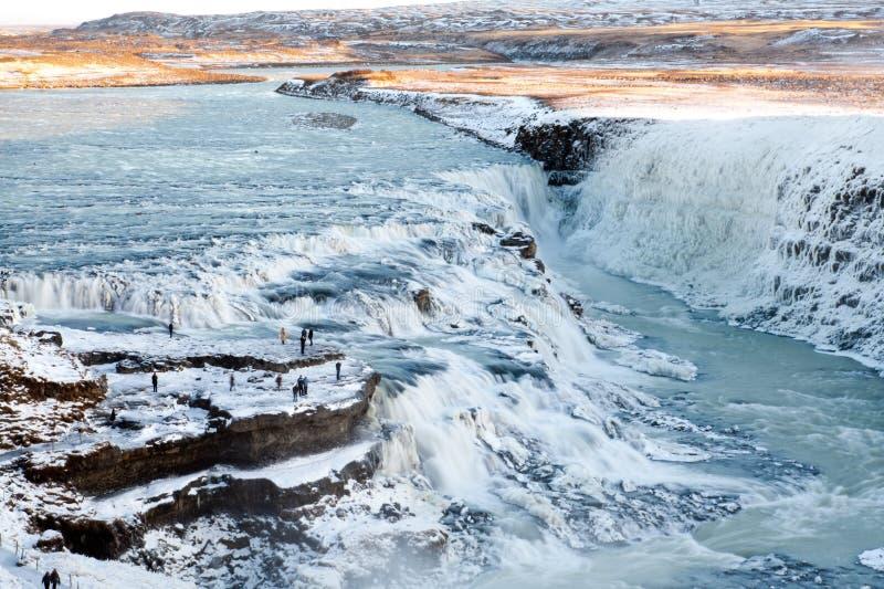 Gullfoss waterfall royalty free stock photo
