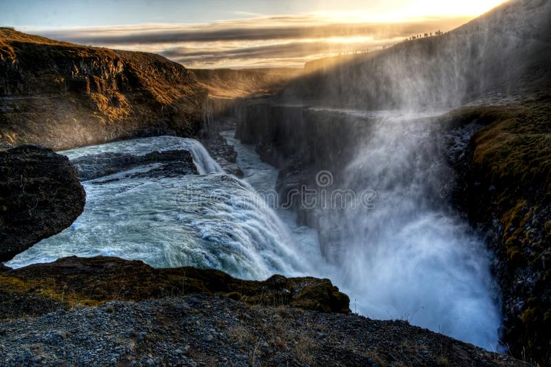 Gullfoss waterfall in Iceland royalty free stock photo
