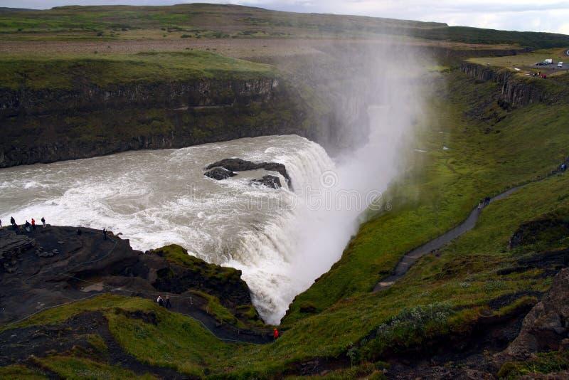 Gullfoss waterfall at summer, southwest Iceland stock photography