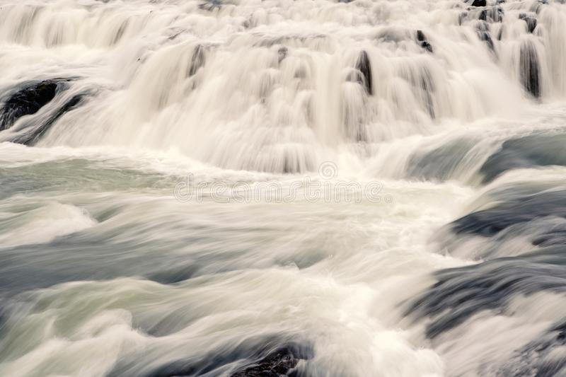 Gullfoss waterfall located in canyon river southwest Iceland. Water stream flow. Waterfall nature landscape. Tourist. Destinations concept. Waterfall popular royalty free stock photo