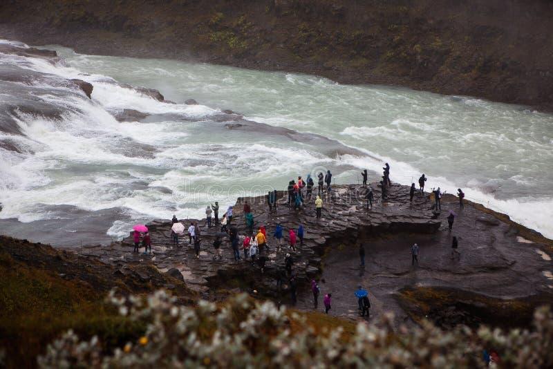 gullfossiceland vattenfall royaltyfria foton