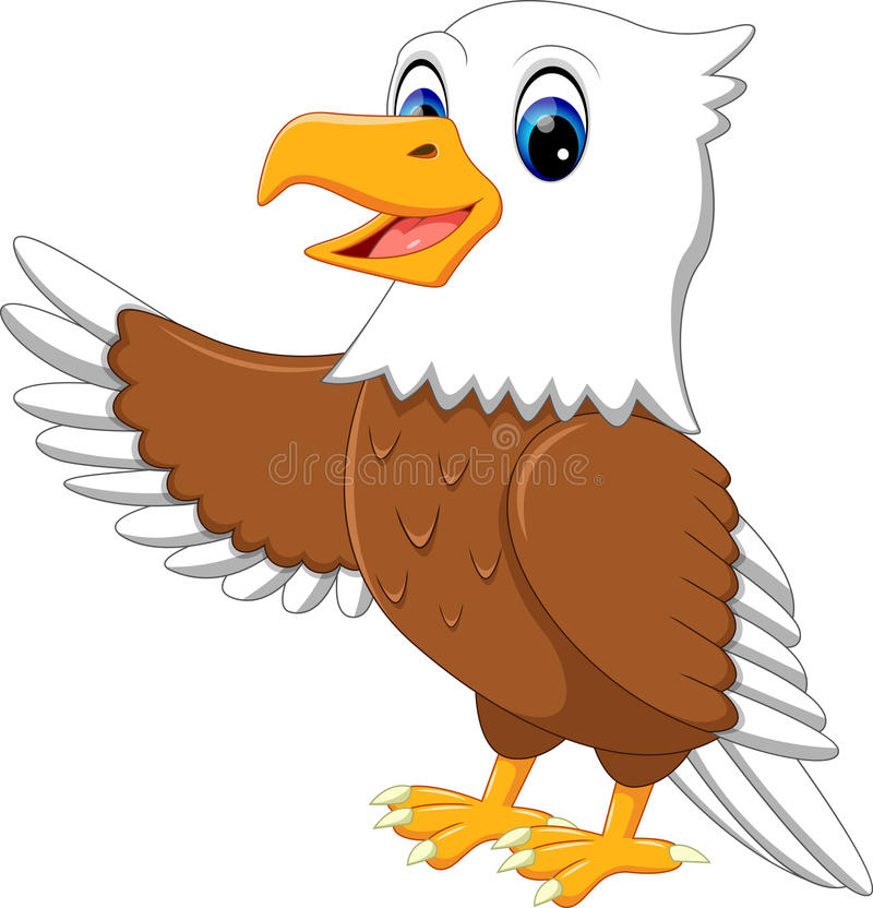 Gullig örn royaltyfri illustrationer