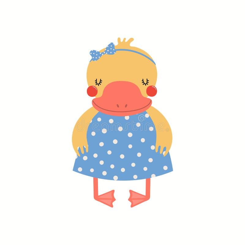 Gullig andprinsessa stock illustrationer