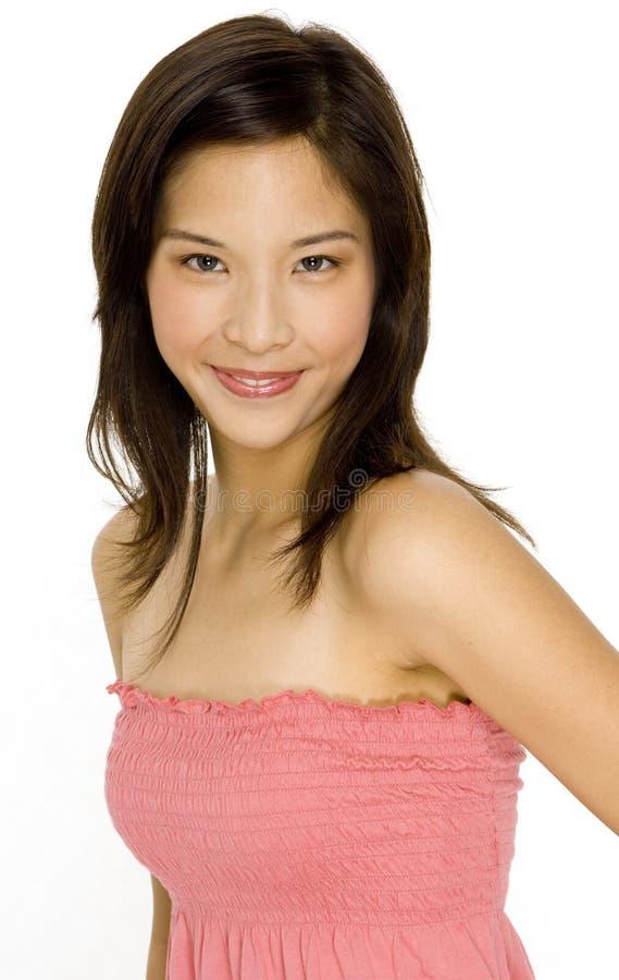 Gullig asiatisk flicka royaltyfria bilder