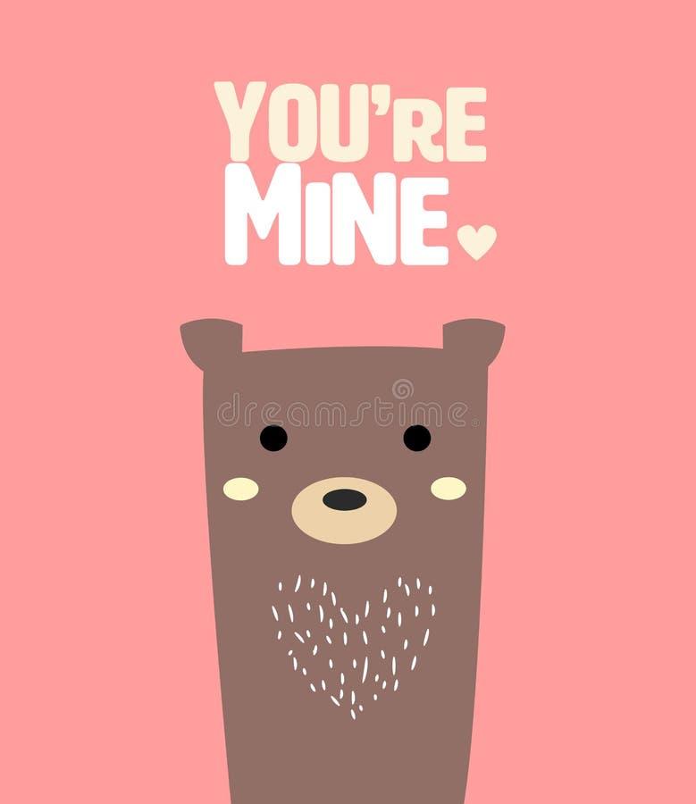 gullig björn stock illustrationer