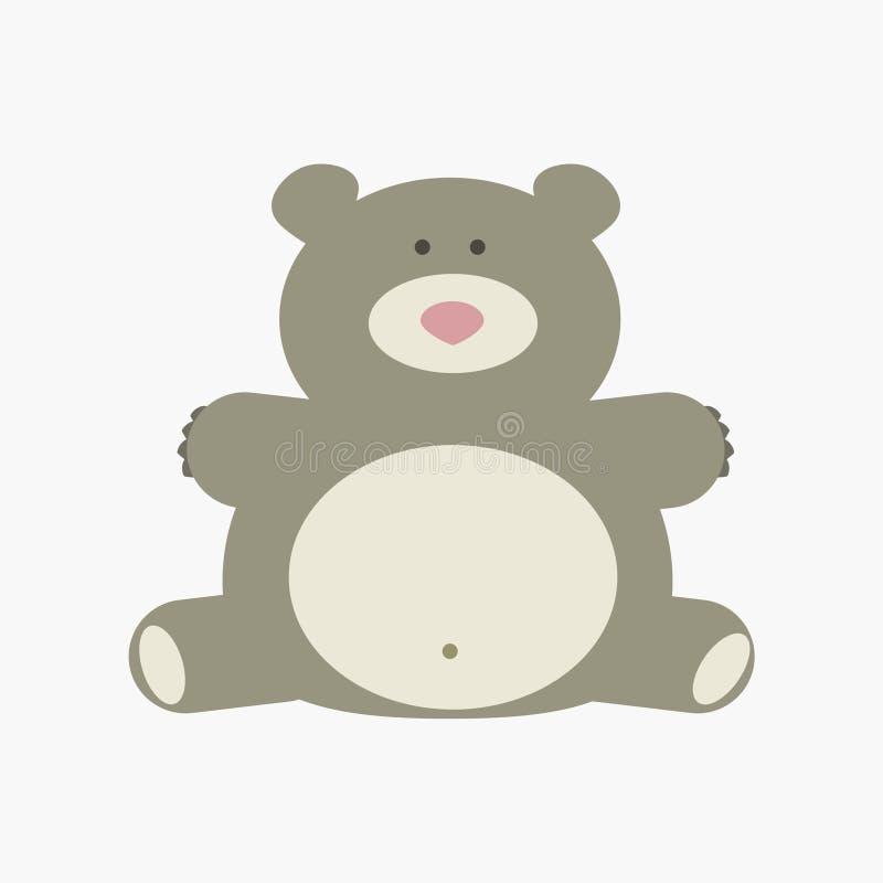 gullig björntecknad film stock illustrationer