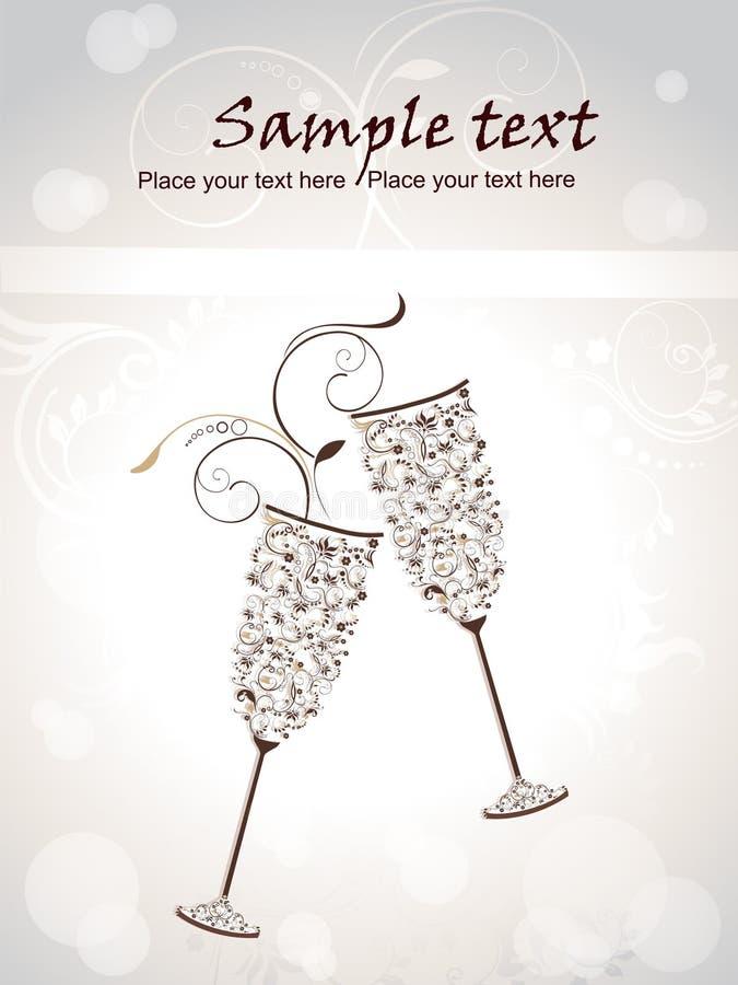 gullig blom- glass modell för champagne royaltyfria bilder