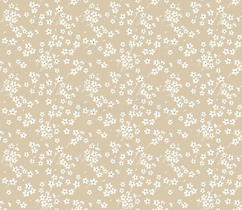 gullig blom- modell royaltyfri illustrationer