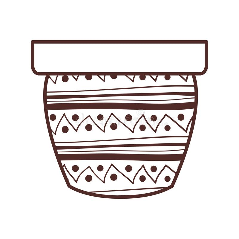 Gullig blomkruka isolerad symbol stock illustrationer