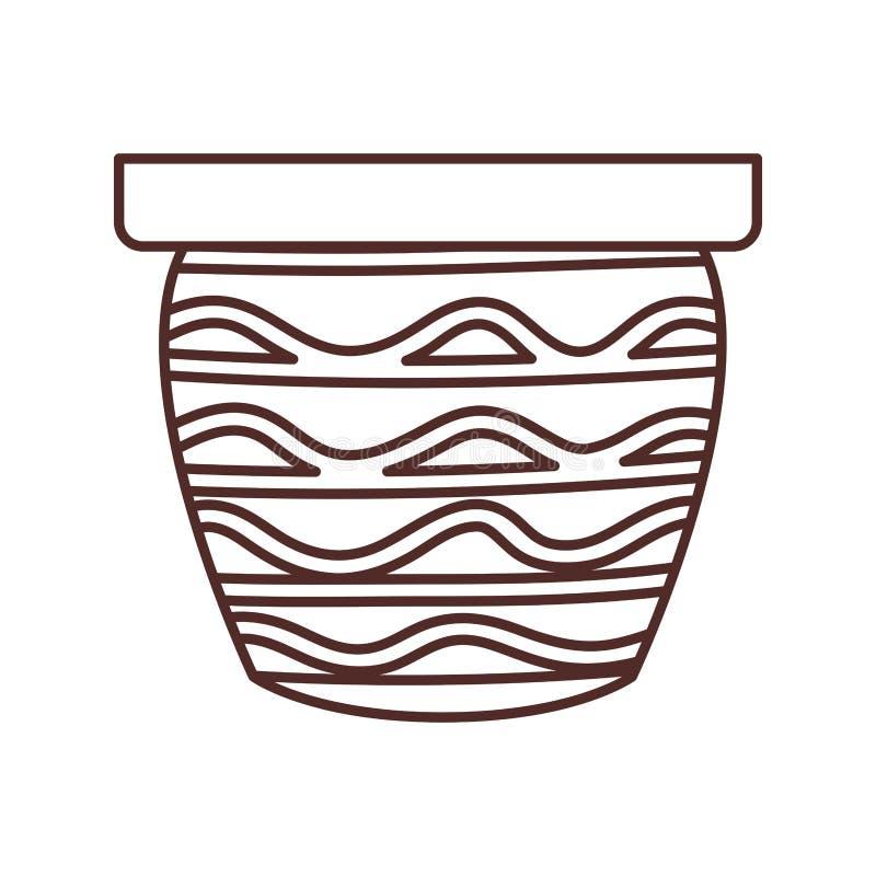 Gullig blomkruka isolerad symbol vektor illustrationer