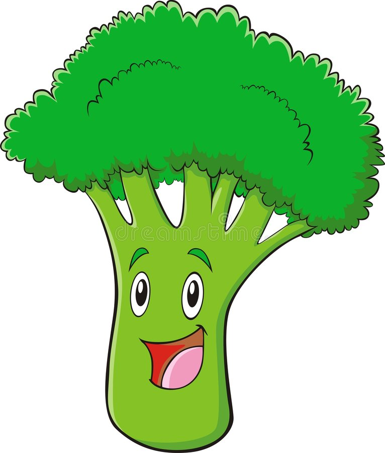 gullig broccoli vektor illustrationer