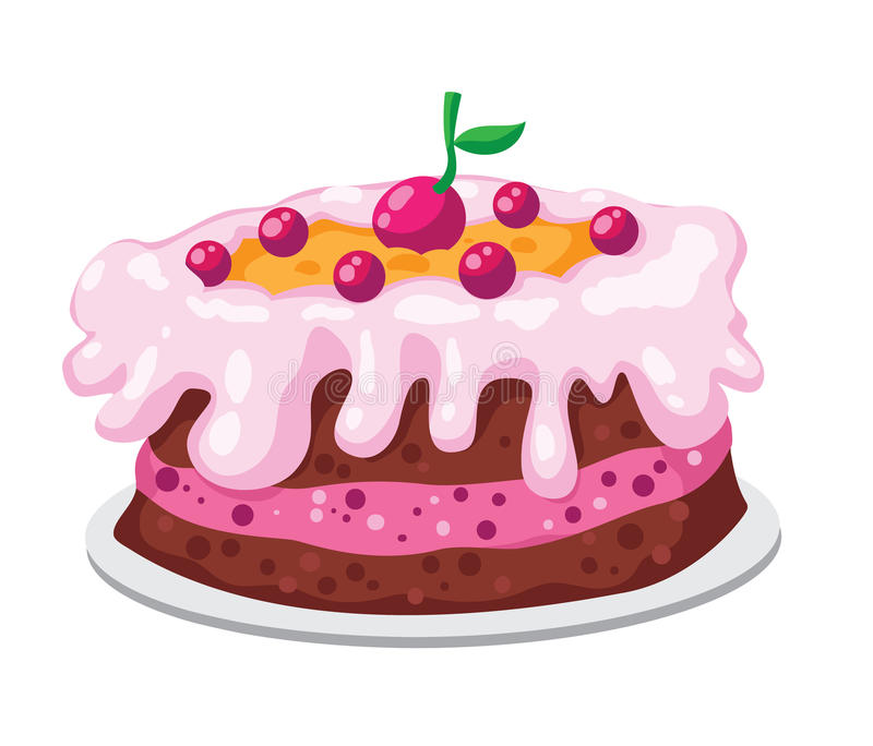 gullig cake vektor illustrationer