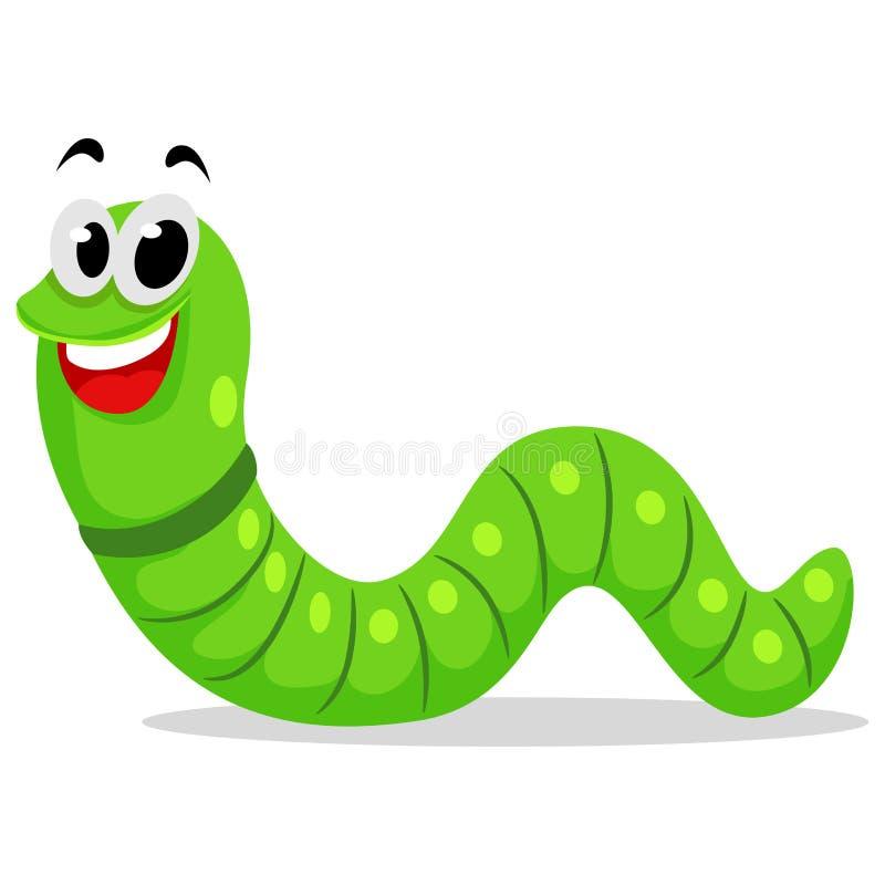 Gullig Caterpillar maskot royaltyfri illustrationer