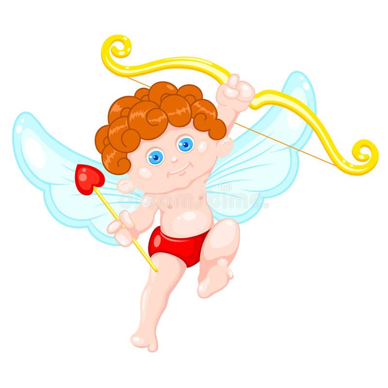 gullig cupid royaltyfri illustrationer
