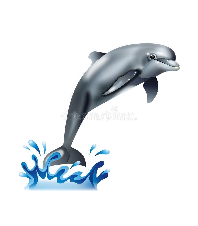 gullig delfin vektor illustrationer