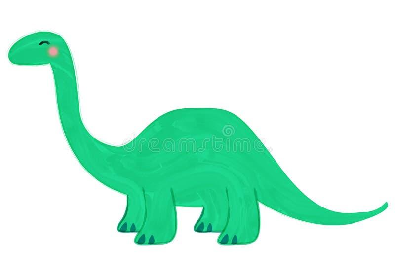 gullig dinosaur stock illustrationer