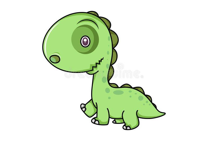 gullig dinosaur vektor illustrationer